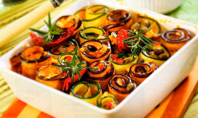 Рулетики из баклажанов с овощной начинкой рецепты