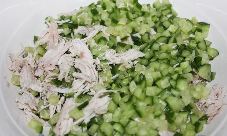 Салат с куриной грудкой-2