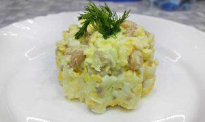 нежный салат с белой фасолью консервированной