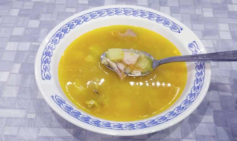рыбный суп из горбуши консервированной